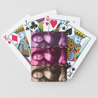 Chocolate rosado púrpura del estampado de animales barajas de cartas
