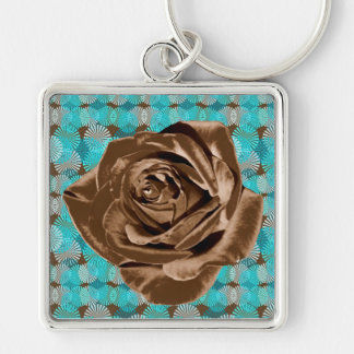 """Chocolate Rose"" pattern collection Keychain"