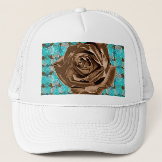 """""""Chocolate Rose"""" pattern collection Trucker Hat"""