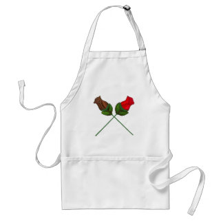 Chocolate Rose Roses Valentine's Day Candy Apron