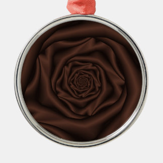 Chocolate Rose Spiral Ornament