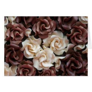 Chocolate Roses Greeting Card