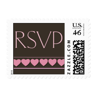 Chocolate rsvp - small size postage