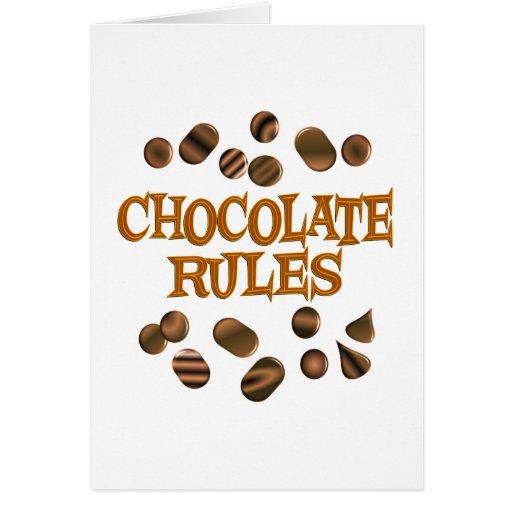Chocolate Rules Card