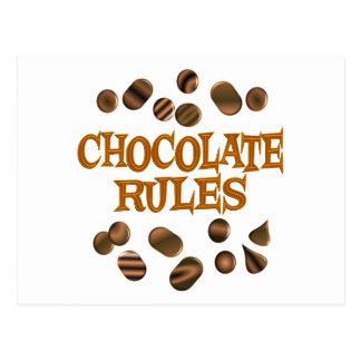 Chocolate Rules Postcard