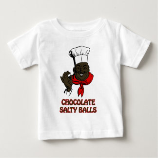 Chocolate Salty Balls Chef Grits and Greens South Baby T-Shirt