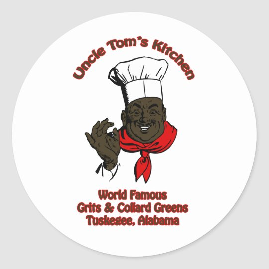 Chocolate Salty Balls Chef Grits and Greens South Classic Round Sticker