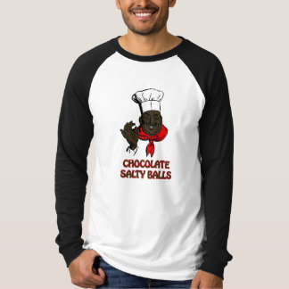 Chocolate Salty Balls Chef Grits and Greens South T-Shirt