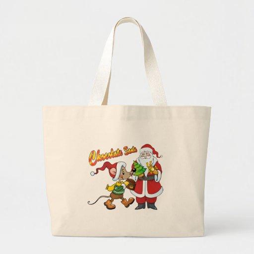 Chocolate Santa Canvas Bags