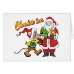 Chocolate Santa Greeting Card