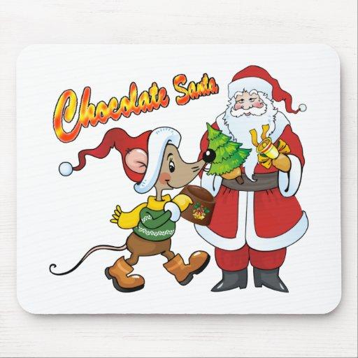 Chocolate Santa Mouse Pads