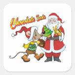 Chocolate Santa Sticker