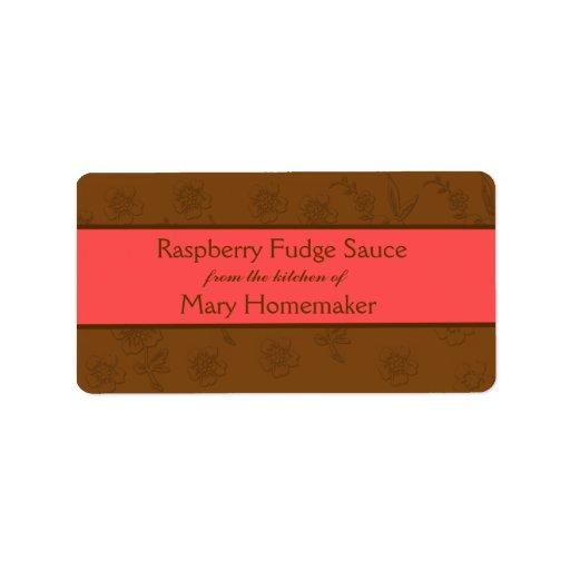 Chocolate Sauce or Fudge Sauce Labels