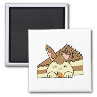 Chocolate Sauce Vanilla Hopdrop And Cake 2 Inch Square Magnet