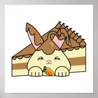 Chocolate Sauce Vanilla Hopdrop And Cake Print