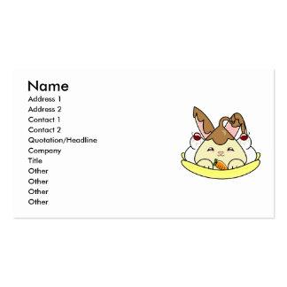 Chocolate Sauce Vanilla Hopdrop Split Business Card Template
