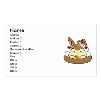 Chocolate Sauce Vanilla Hopdrop Waffle Sundae Business Cards