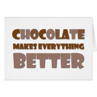 Chocolate Saying Card