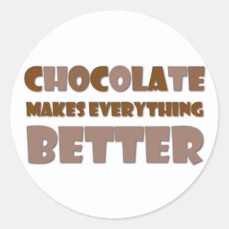 Chocolate Saying Classic Round Sticker