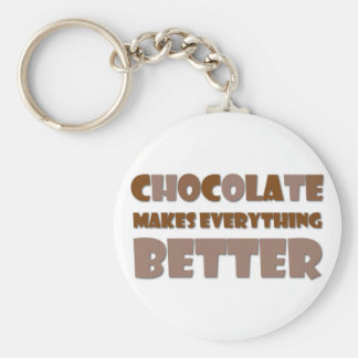 Chocolate Saying Keychain