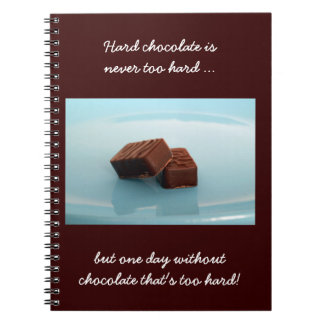 chocolate sayings spiral notebooks