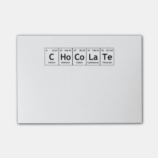 CHoCoLaTe Science Periodic Table Words Elements Post-it Notes