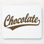 Chocolate script logo mouse pad