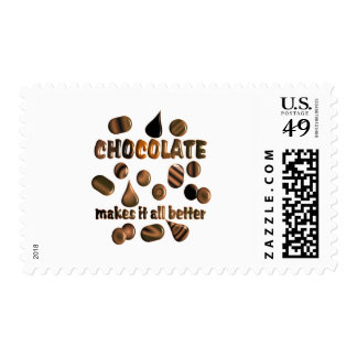 Chocolate Sellos Postales
