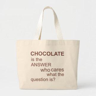 chocolate-ser--respuesta bolsa tela grande