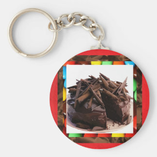 Chocolate Shavings Cake Keychain