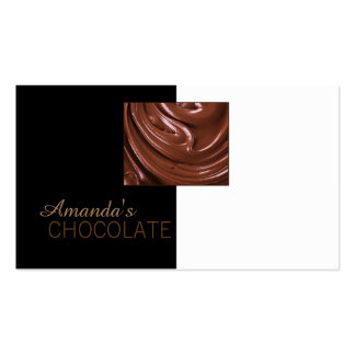 Chocolate Shop Chocolatier Black White Sweets Card Double-Sided Standard Business Cards (Pack Of 100)