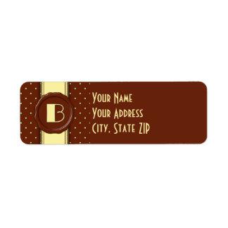 Chocolate Shop Polka Dot Monogram - B Label