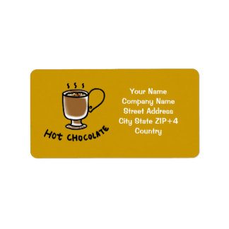 Chocolate shop return address label
