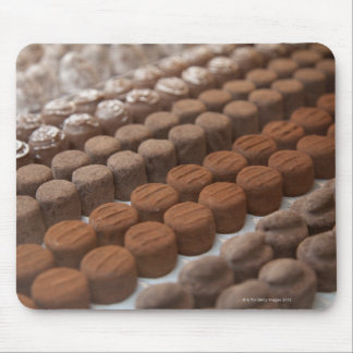 chocolate shop store display of chocolate mouse pad