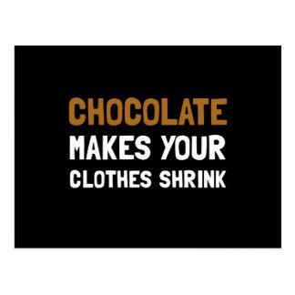 Chocolate Shrink Postcard