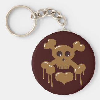 Chocolate Skull and Crossbones Keychain