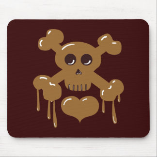 Chocolate Skull and Crossbones Mouse Pad