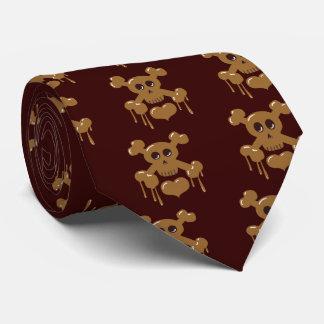 Chocolate Skull and Crossbones Tie