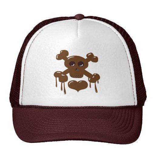 Chocolate Skull and Crossbones Trucker Hat