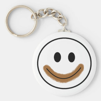 Chocolate Smiley Face Keychain