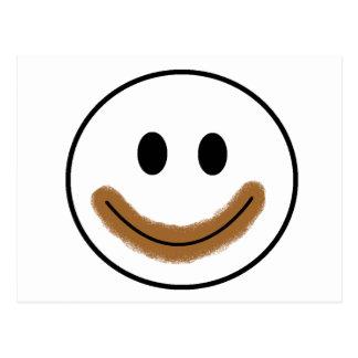Chocolate Smiley Face Postcard