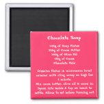 Chocolate Soap Recipe Magnet color