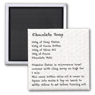 Chocolate Soap Recipe Magnet pink
