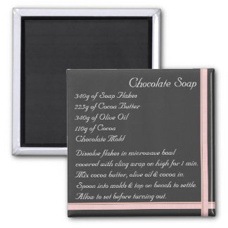 Chocolate Soap Recipe Magnet ribbon