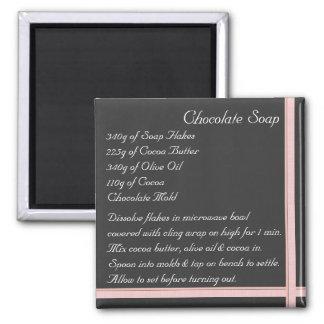 Chocolate Soap Recipe Magnet ribbon