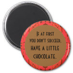 chocolate soothes refrigerator magnet