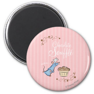 Chocolate Souffle 2 Inch Round Magnet
