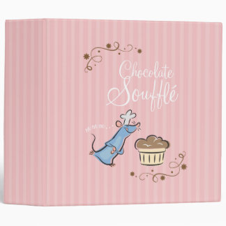 Chocolate Souffle 3 Ring Binder