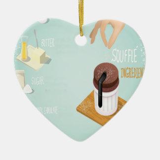Chocolate Soufflé Day - Appreciation Day Ceramic Ornament