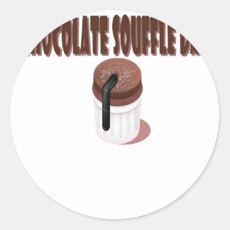 Chocolate Soufflé Day - Appreciation Day Classic Round Sticker